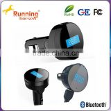 Wholesale Bluetooth Handsfree FM Transmitter USB Car charger
