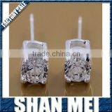 2013 popular fashion design rhinestone sliver stud earring findings