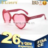 Vintage Colored Heart Shape Plastic Kids Sunglasses Pink Color Xiyangyang With High Quality 28EST3-4002