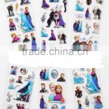new style cheap custom cartoon design 3d puffy for kids products, customized toy gifts sticker,FROZEN sticker