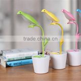 Simple Free Bird Lamp LED small table lamp bedroom bedside Foldable USB Rechargeable Lamps