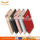 Sublimation 3 in 1 electroplating soft tpu full cover case for iphone 6 plus