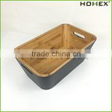 Bamboo kitchen multipurpose storage box Homex BSCI/Factory