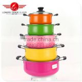 Best selling colorful16-24cm stainless steel Kitchen use cookware with glass cover/ cooking pot/ cassrole
