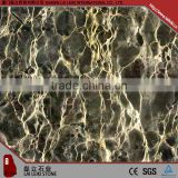 High quality natural stone Yunnan-portoro black marble tile