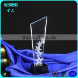 Best Seller Colors Engraved Crystal Glass Star Trophies For Business Cooperation Gifts