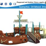 (A-05102)funny children outdoor jungle gym ,pirate ship plastic slide playground set outdoor