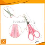 Professional plastic handle safety beauty scissors