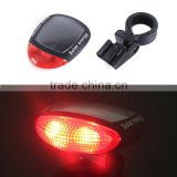 2016 New hot Bicycle Bike Cycling Solar Energy Strobe Flash LED Rear Tail Safety Light Lamp