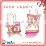 S0002 Fahion girl pink rhinestone high heel slipper