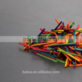 China manufacturers custom coulorful/uncolorful match wood stick for model