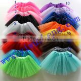 2017 wholesale high quality children colorful tutu skirt and ballet skirt,many color for your choose
