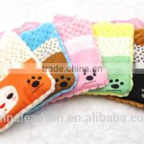 Lovely soft plush animal hot water bag cover with pocket