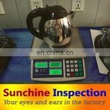 third party inspection company to check kettle quality and test before shipment in China