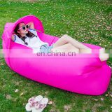 Hot selling on Amazon Inflatable lounge bag hammock air soft ship bed banana sofa