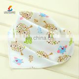 Fashion Waterproof Easy Washable printed baby bibs bandana