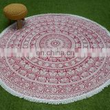 Fast shipping outdoor indoor beach roundie towel india mandala bohemian tapestries