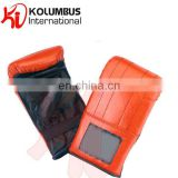Genuine leather red color boxing bag gloves and mitts