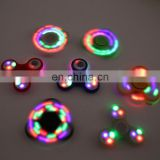 LED light Fidget Hand Spinner Torqbar Brass Metal Finger Toy