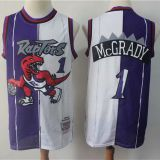 Toronto Raptors #1 McGrady Throwback white&purple Jersey