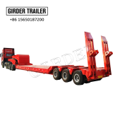 China manufacturer customized 3 axles cantilever suspension lowbed semi trailer