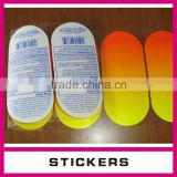 Factory custom custom waterproof transparent self adhesive label/die cutting sticker/label