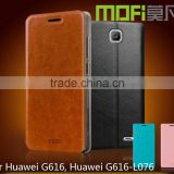 MOFi Case for Huawei Ascend G616, 5 inch Android Smartphone Leather Cover for Huawei G616 Case