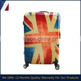 20''/24''/28'' of Printed England Flag pattern abs pc spinner luggage hotselling in euro market