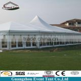 Hot selling transparent PVC 6m width aluminum frame glass gazebo tent for star hotel tent