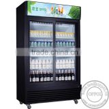 OP-A401 Pure Copper Condenser Stable Cooling Supermarket Glass Door Fridge