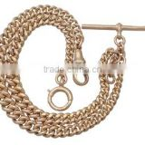 Vintage Rolled Gold Double Albert Pocket Watch Chain