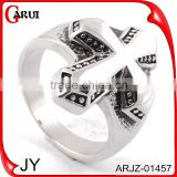 Punk style biker ring silver men's rings with cross                                                                         Quality Choice