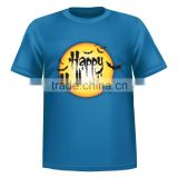 free shipping for custom t shirt printing halloween new design in polo shirt 100% cotton