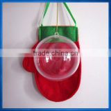8cm Clear Candy Box Christmas Hanging Bauble Tree Decoration Ball