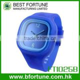 FT1025B Promotion price silicone colorful fashion quartz watch wrist removable watch strap