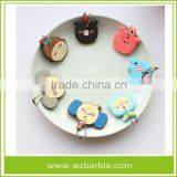 Promotional Cute Waterproof Silicone Rubber Keychain, PVC Key tag/Protable Keyring