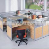 2014 cheap office partition wood office cubicle partition workstation for 4 person (SZ-WS231)