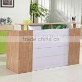 curved reception desk shop cash counter table design (SZ-RTT004)