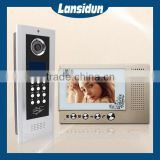 color hands free video door phone 5 wire intercom system