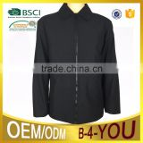 bonded twill 100% polyester jacket mens Short length shirt Collar Jacket
