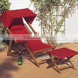 wooden Beach chair & Beach lounger & sun lounger & deck chair & beach chair with sun canopy & sun lounger