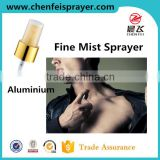 Custom plsatic fine mist plastic pump spray and pump manual sprayer in any color dosage 0.14ml use in beautiful bottle