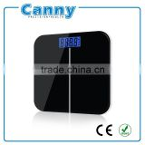 (CANNY) Personal Scale, Large blue backlight LCD digital Scale, Electronic Glass Bathroom Scale