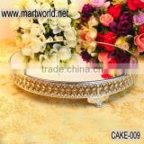 Latest 18 inch big silver crystal wedding cake stand for wedding decoration & party decoration(cake-009)