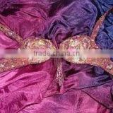 Silk Belly Dance Veil - BLUE / FUCHSIA ,wholesale belly dance silk veils at amazing discount price.