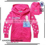 2014 new Frozen children's coat girls cartoon fall clothing children's hooded fleece cardigan guangzhou children clothes