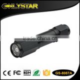 Onlystar GS-8087A 8+1 led aluminum multi function aaa dry battery long distance emergency safety flashlight laser torch