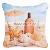 Cute elegant beach seascape inflatable throw pillow case with insert 30cm                                                                                                         Supplier's Choice