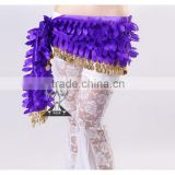 Fashion Leaves Golden Coins beaded belly dance belts belly dance hip scarf