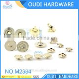 Cheaper Price Shiny Light Gold Snap Button Bag Accessories 14mm Magnetic Button                                                                         Quality Choice